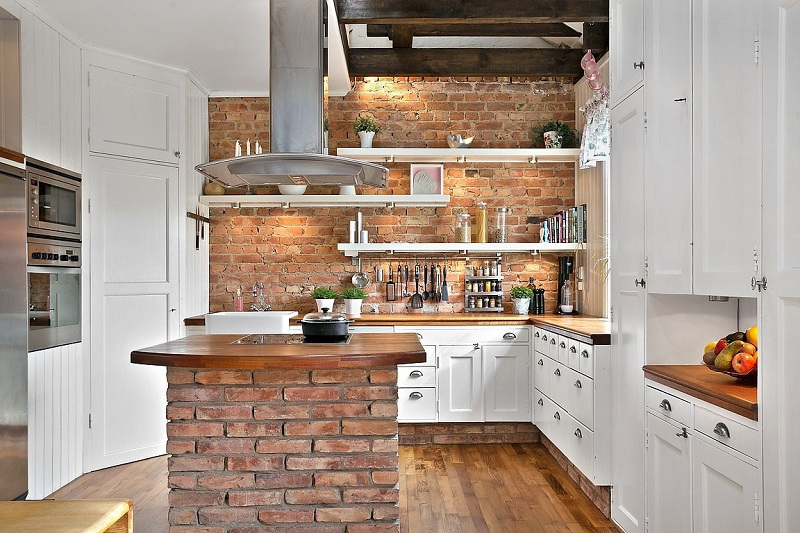 Country Style Kitchen of interior design