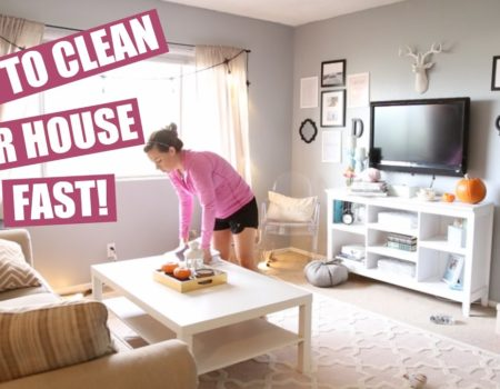 How to clean house fast and easy