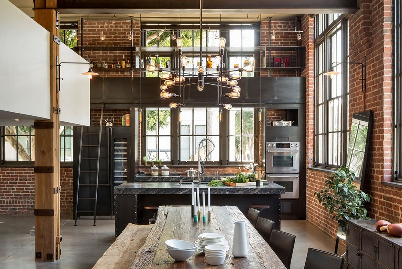 Loft Style In The Interior Of The Apartment