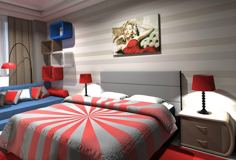 Style Pop Art In The Interior Of The Apartment