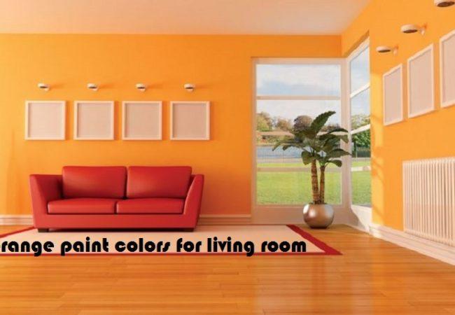orange paint colors for living room