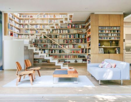 Bookcases In The Living Room Interior