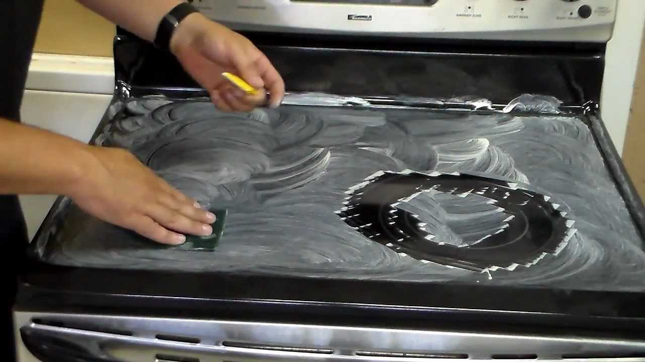 How to clean glass ceramic hob
