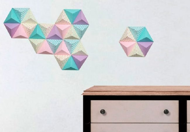 Wall decoration with paper